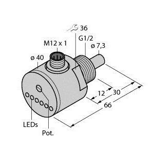 FCS-G1/2A4-AP8X-H1141, Strömungsüberwachung, Eintauchsensor mit integrierter Auswerteelektronik