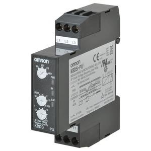 K8DS-PU1, Überwachungsrelais 17.5mm, Unterspannung, Phasenlage und -ausfall, Asymmetrie 3-phase 3-wire, 200 to 240 VAC, one 1 Wechsler