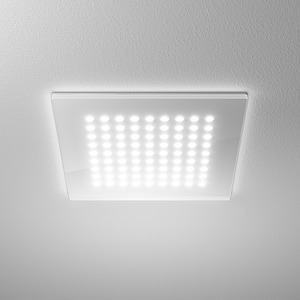 DOMFLQ 109.40.03, Domino Flat Square Einbau-Downlight 18W 840 2150LM Quadrat weiß
