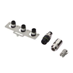 Kabeldose, Anschlussstück, M8 Stecker 3polig gerade, Schnellanschluss 3polig, Ø5,1mm, 32V, 8...