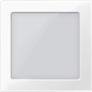 Zentralplatte mit Sichtfenster, polarweiß glänzend, System M
