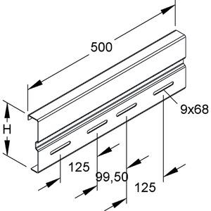 WSV 150.500 F, Stoßstellenverbinder, 151,5x500 mm, Stahl, feuerverzinkt DIN EN ISO 1461, inkl. Zubehör