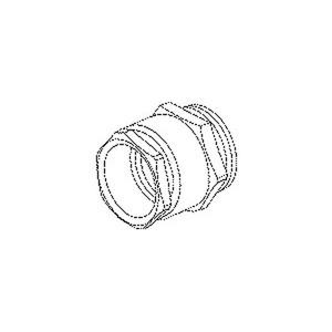 930/13, Kabelverschraubung, Sechskant-ZW-Stutzen, Pg13,5,Kabel-Ø11-13mm,L=15mm, Messing, vernickelt