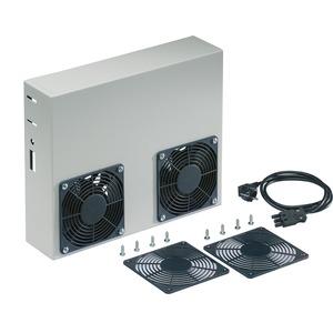 Lüfterset für Office PC-Case Fokus m. Thermostat u. Schalldämmung, verpackt