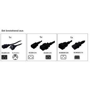 10A FR/DIN power cords for HotSwap MBP, Hotswap Kabelset für USVen < 2500VA . Adapter 16A auf 10A