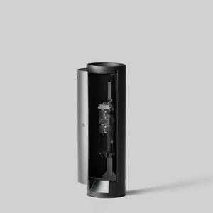 E-Pollerleuchtenrohr, D:265 mm, 2 SCHUKOSTECKDOSEN