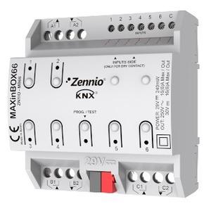 ZN1IO-MB66, Zennio MAXinBOX66 KNX-Multifunktionsaktor 16A mit 6A/D Eingängen