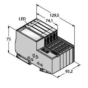 TI-BL20-E-EC-S-8, Set EtherCAT in Schutzart IP20, BL ident®
