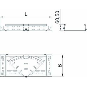 RBMV 640 FS, Bogen variabel mit Schnellverbindung 60x400, St, FS