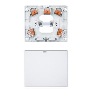 Herd- und Geräteanschlussdose UP mit 2 Ausgängen und Steckklemmen, polarweiß