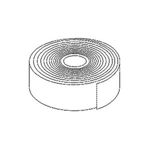 377/50, Korrosionsschutzbinde, Breite 50 mm, Materialstärke 1,1 mm, Werkstoff aus unverrottbaren Acrylfasern mit Petrolatum