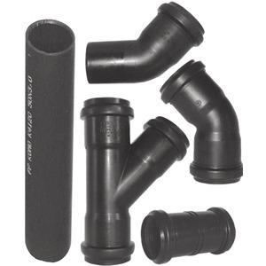 PP-Rohr schwarz L=1,5m
