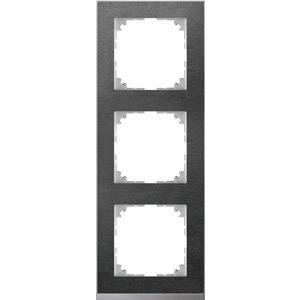 M-Pure Decor-Rahmen, 3fach, Schiefer/aluminium, M-Pure Decor