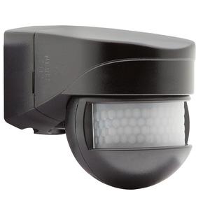 LC-Mini 180 schwarz, Mini-Außenbewegungsmelder mit einem Erfassungsbereich von 180°