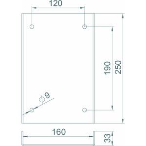 ISS160160AS WA, Anfahrschutz für Industriesäule 250x166x33mm, St, weißaluminium, RAL 9006