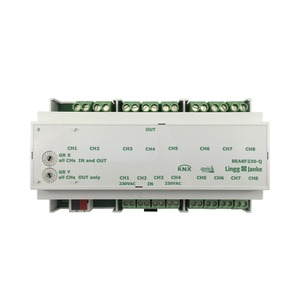 KNX quick Binär Ein-/Ausgang 8-fach, Signaleingang 230V AC/DC, 9 TE; Schaltleistung 16A 250 VAC, C-Last 200µF