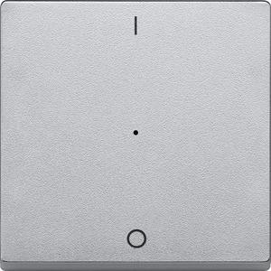 Wippe für Taster-Modul 1fach (1/0), aluminium, System M