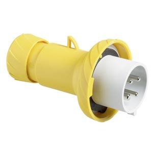 CEE Stecker, Schraubklemmen, 16A, 3p+E, 100-130 V AC, IP67
