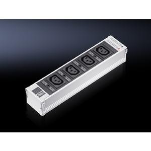DK 7856.220, PSM 4-fach Kaltgeräte Einsteckmodul C13, mit Einzelabsicherung, nicht schaltbar