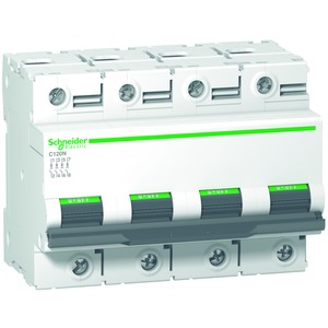 Leitungsschutzschalter C120N, 4P, 100A, D Charakteristik, 10kA
