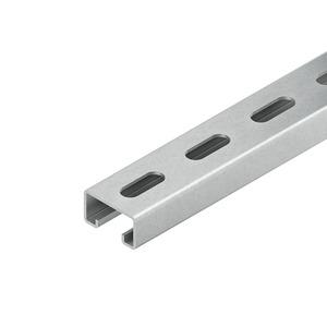 2986/3 SL, Ankerschiene, C-Profil SW 18 mm, 40x22x3000 mm, gelocht bandverzinkt