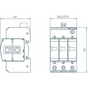 V20-C 3+FS-385, SurgeController V20 3-polig mit Fernsignalisierung 385V