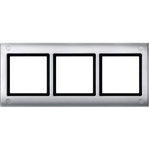 AQUADESIGN-Rahmen mit Verschraubung, 3fach, aluminium