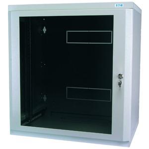 NWE-4A12/GL/ZS, Wandgehäuse, 19 Zoll, 2-teilig, T=400mm, HE12, Tür, Glas, +Zylinderschloss