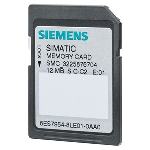 6ES7954-8LE03-0AA0, SIMATIC S7, Memory Card für S7-1x00 CPU/SINAMICS, 3, 3V Flash, 12 MByte