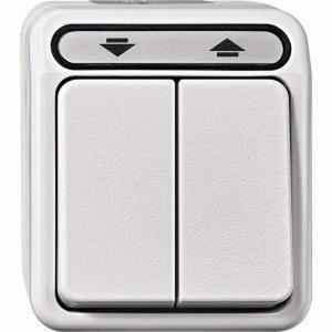 Rollladenschalter, 1-polig, polarweiß, AQUASTAR