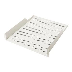 DIGITUS 2HE Fachboden zum Festeinbau perforiert, Farbe Grau (RAL 7035), bis zu 25 kg, 85x483x550 mm