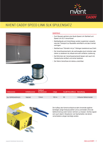 nVent CADDY Speed Link