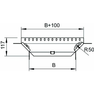 RAA 610 A2, Anbau-Abzweigstück mit 2 Winkelverbindern 60x100, V2A, A2