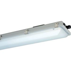 e865F 12L60, Ex-geschützte LED-Wannenleuchte ExeLed 1 für Zone 1/21 mit satinierter Abschlusswanne, 5.920lm, 47W, IP66, SK I
