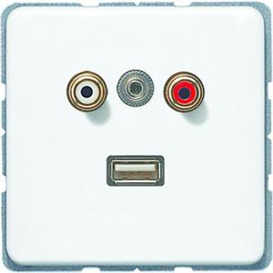 MA CD 1092 WW, Cinch Audio, Miniklinke3,5mm und USB, Tragring, Schraubbefestigung, bruchsicher