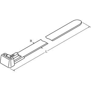 DTR1-0250-P-NA-66-V, DIS-TY Kabelbinder 7,6x250 natur wieder öffenbar Preis per VPE  VPE =100
