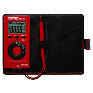 MM P3, Digital-Multimeter im Taschenformat 600 V AC/DC. 40 Mohm. MHz. µF. Durchgang. Diode. Hold. Cat III 300 V. 130 g. Inklusive Zubehör.
