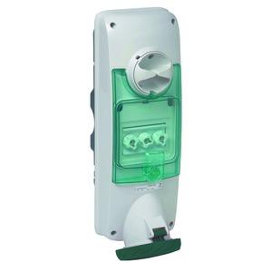 Wandsteckdose verriegelt, 63A, 3p+E, 480-500 V AC, IP65