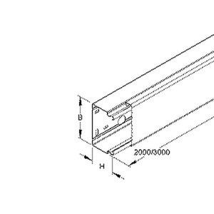 LLK 100.100/3 E3, Leitungsschutzkanal mit Deckel 100X100x3000 mm, mit Bodenlochung, Edelstahl, Werkstoff-Nr.: 1.4301, 1.4303