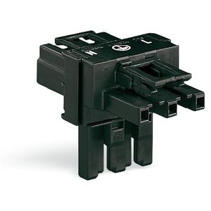 T-Verteiler 3-polig Kodierung A 1 Eingang 2 Ausgänge schwarz