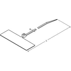 DTM1-0110-C-NA-66-V, DIS-TY Kabelbinder 2,5x110 natur mit Markierfläche Preis per VPE  VPE =100