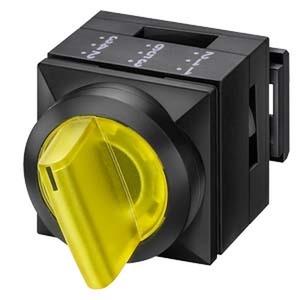 3SB3111-2KA41, Knebelschalter, 26x26mm, beleuchtet, quadratisch, Kunststoff, grün