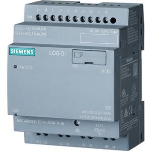 6ED1052-2CC08-0BA0, LOGO! 24CEO, Logikmodul, ohne Display, SV/E/A: 24V/24V/24V trans., 8DE (4AE)/4DA, SP. 400 Blöcke, modular erweiterbar, Ethernet, integr. Web-Server, D