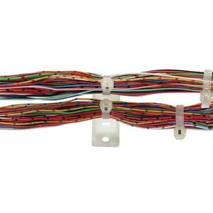 TC1104, Befestigungssockel, Kabelleisten, Anschrauben, fuer Kabelbinderbreite bis zu 4.8 mm,