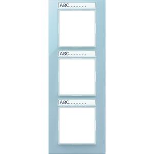 AC 583 BFNA ANM, Rahmen, 3fach, Schriftfelder 9 x 55 mm, bruchsicher, für senkrechte Kombination