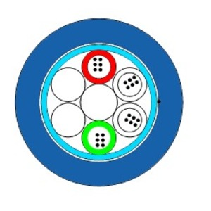 UCFibre I/O ST D DA LSHF 5.0kN 24 SM2D, U-DQ(ZN)BH LV 24 SMF G.652.D OS2 ES/250µm