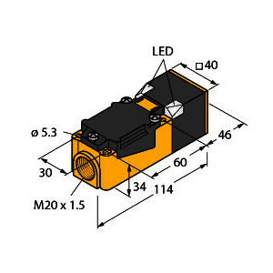 NI20-CP40-VP4X2, Induktiver Sensor, Standard