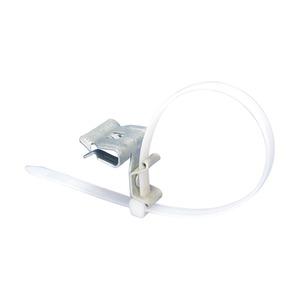 4H24CTBW, Flanschklipp zum Aufschlagen mit Kabelbinder, Federstahl, CADDY ARMOUR, 3–8 mm (0,12–0,31) Flansch, Nylon weiß Kabelbinder
