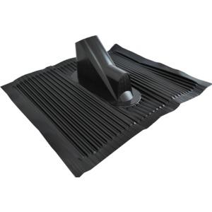 Aluminium-Dachziegel, schwarz, universal, L450mm, B500mm, mit Kabeleinführungen